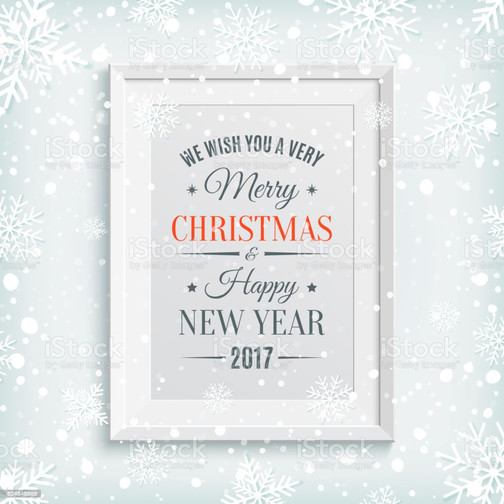 We Wish You Merry Christmas And Happy New Year 2017 Stock Vector Art ...