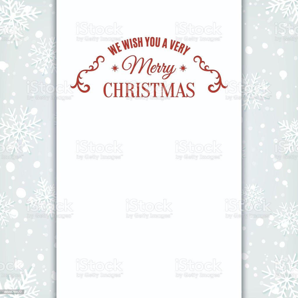 Wir Wünschen Ihnen Frohe Weihnachten Grußkartenvorlage Stock Vektor ...
