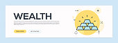 Wealth Concept - Flat Line Web Banner
