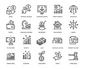 Wealth Management Icon Set - Thin Line Series