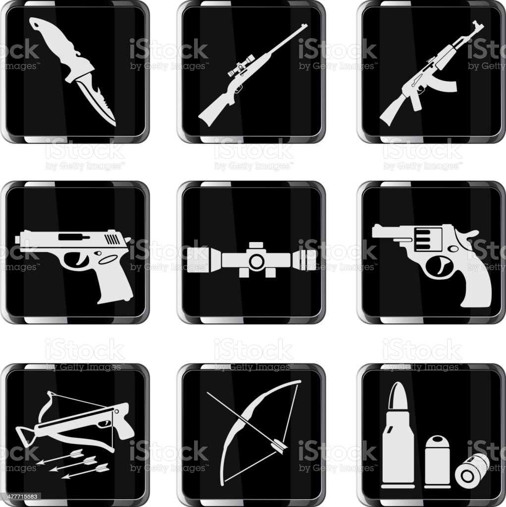 Weapon icon set royalty-free weapon icon set stock vector art & more images of archery bow