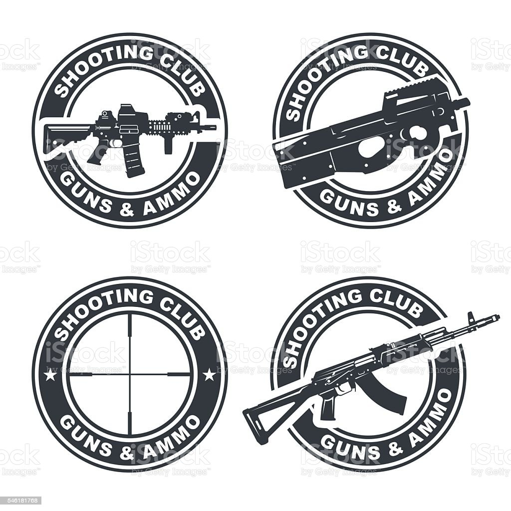 weapon rifle emblem 2 - Illustration vectorielle