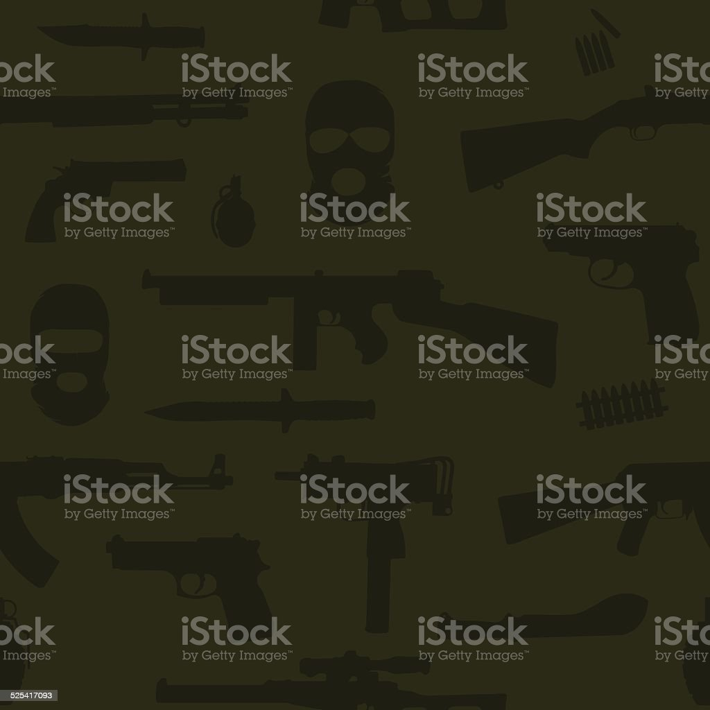 Weapon seamless vector pattern vector art illustration