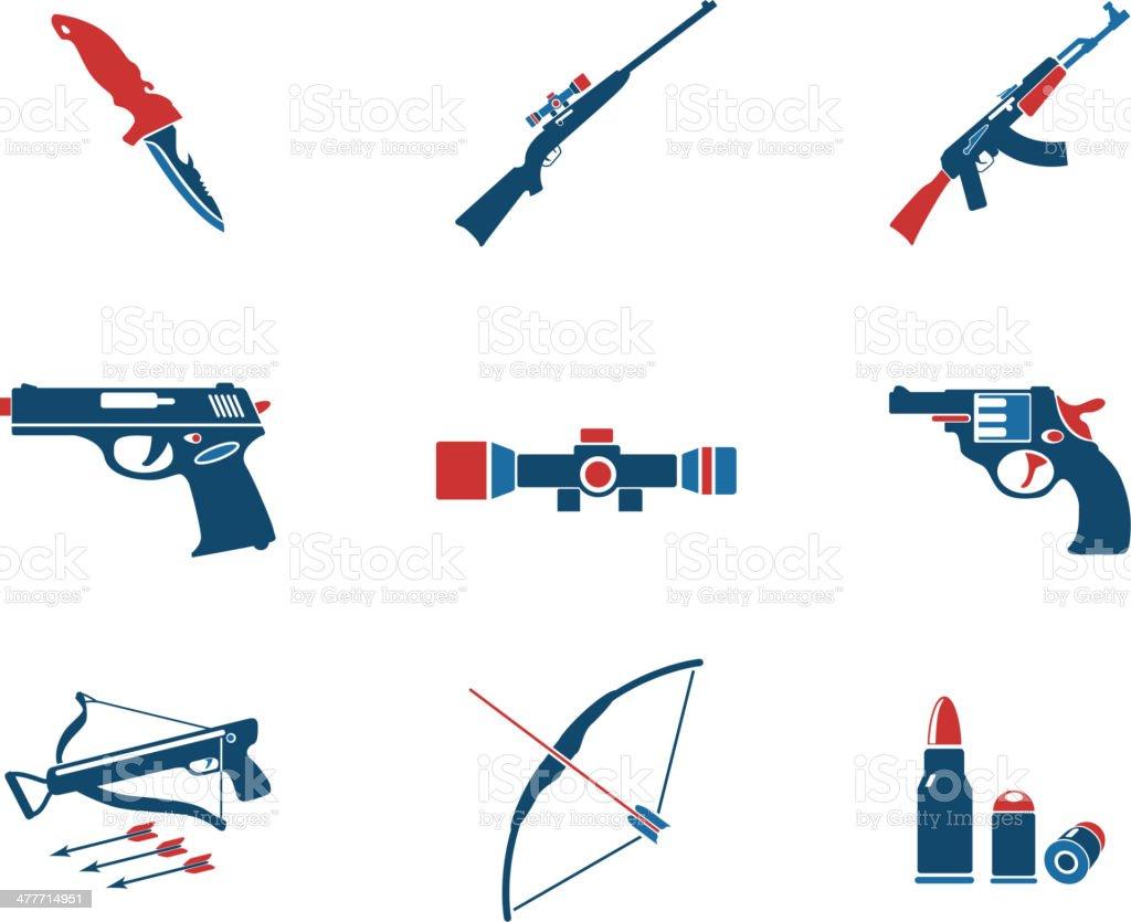 Weapon symbols royalty-free stock vector art