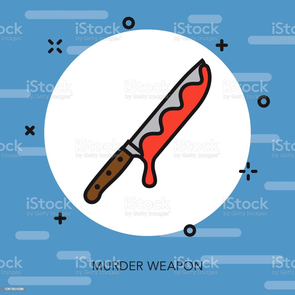 Weapon Thin Line Crime & Punishment Icon vector art illustration
