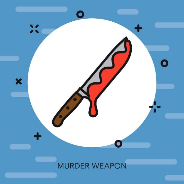 Weapon Thin Line Crime & Punishment Icon vector art illustration