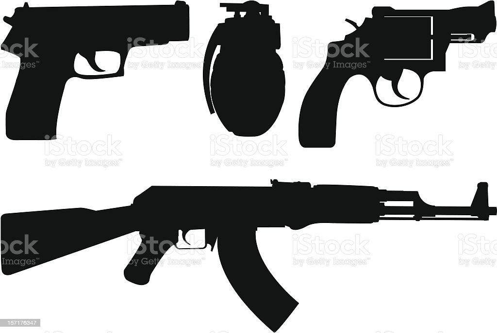 Weapon stock vector art more images of ak 47 157176347 for Ak tattoo gun