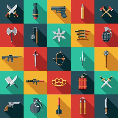 Weapons Icon Set