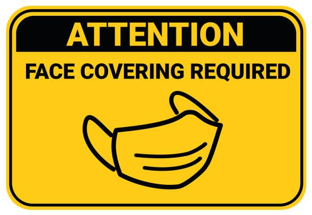 bildbanksillustrationer, clip art samt tecknat material och ikoner med använd tyg ansiktsbeläggning i offentliga anläggningar inställningar för att undvika eller skydda en person från covid-19 coronavirus - face mask