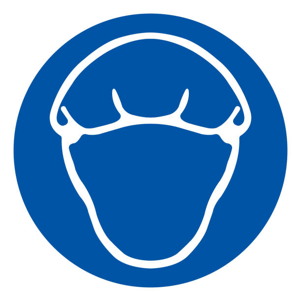 Wear Hairnet Symbol Sign, Vector Illustration, Isolate On White Background Label .EPS10 Wear Hairnet Symbol Sign, Vector Illustration, Isolate On White Background Label .EPS10 hair net stock illustrations