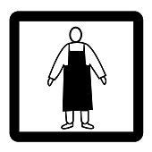 Wear Protective Clothing Sign of Precautionary Pictogram