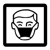 Wear respiratory protection Signs of Precautionary Pictogram