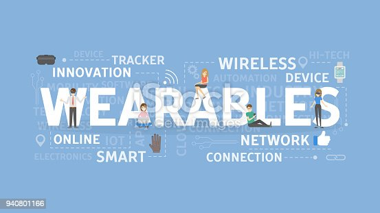 Wearables concept illustration. Idea of wireless, network and devices.