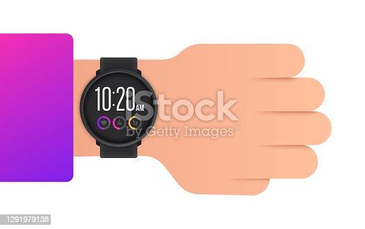istock Wearing a Smart Watch 1291979138