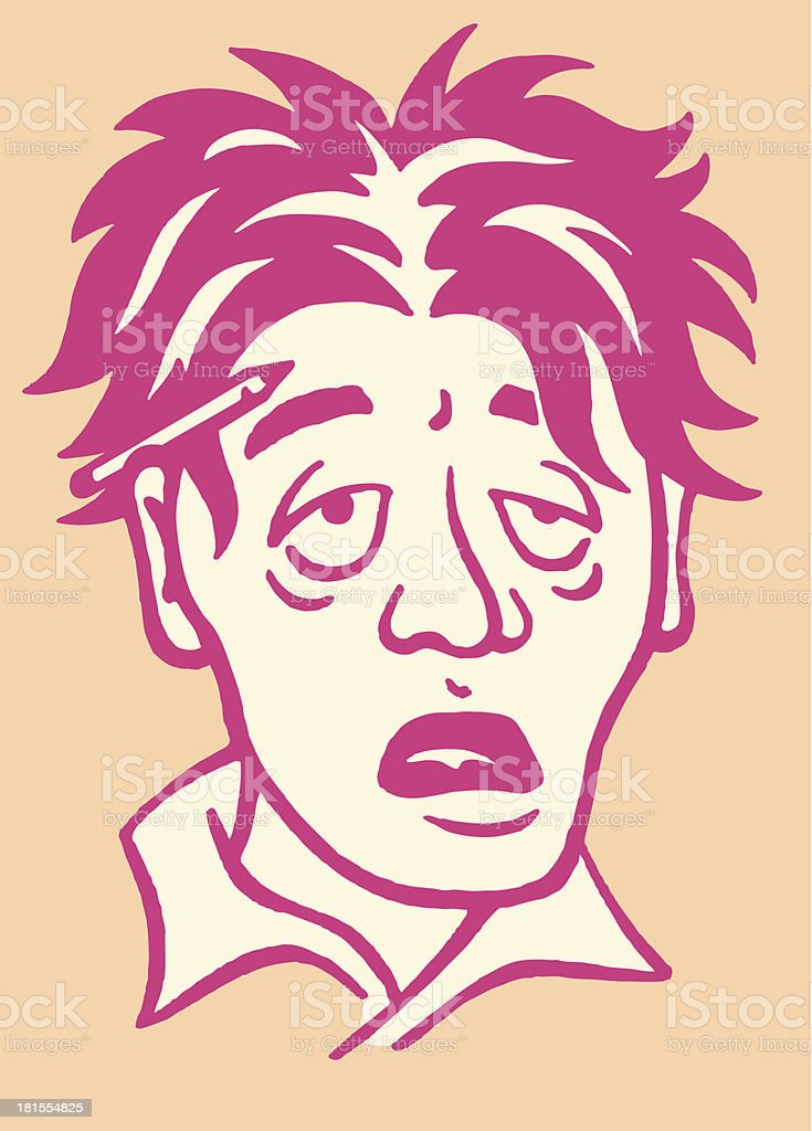 Weary Man royalty-free weary man stock vector art & more images of adult