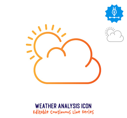 Weather Analysis Continuous Line Editable Stroke Line