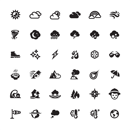 Weather and Climate icons set