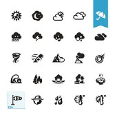 Weather and Natural Disaster vector icons
