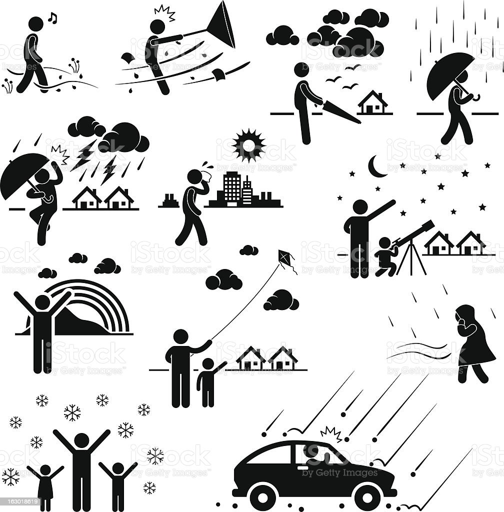 Weather Climate Atmosphere Pictogram royalty-free stock vector art