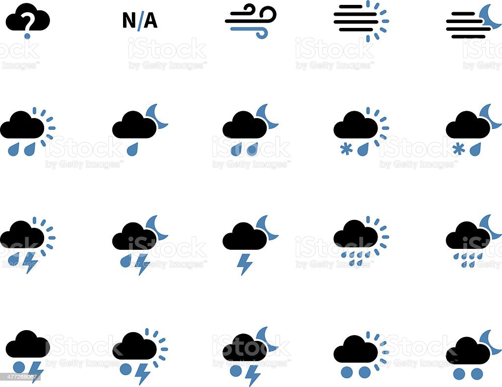 Weather duotone icons on white background. royalty-free stock vector art