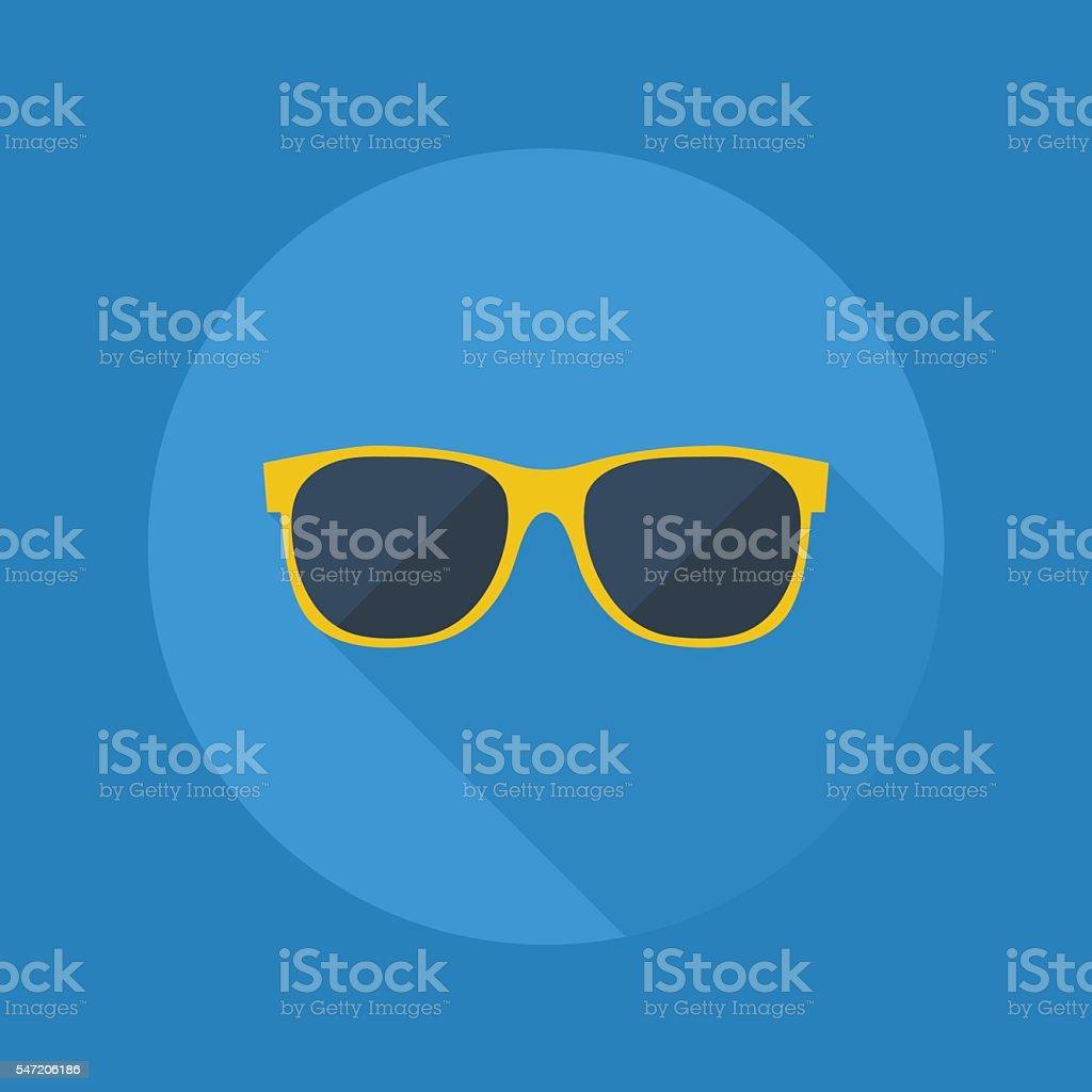 Weather Flat Icon. Sunglasses vector art illustration