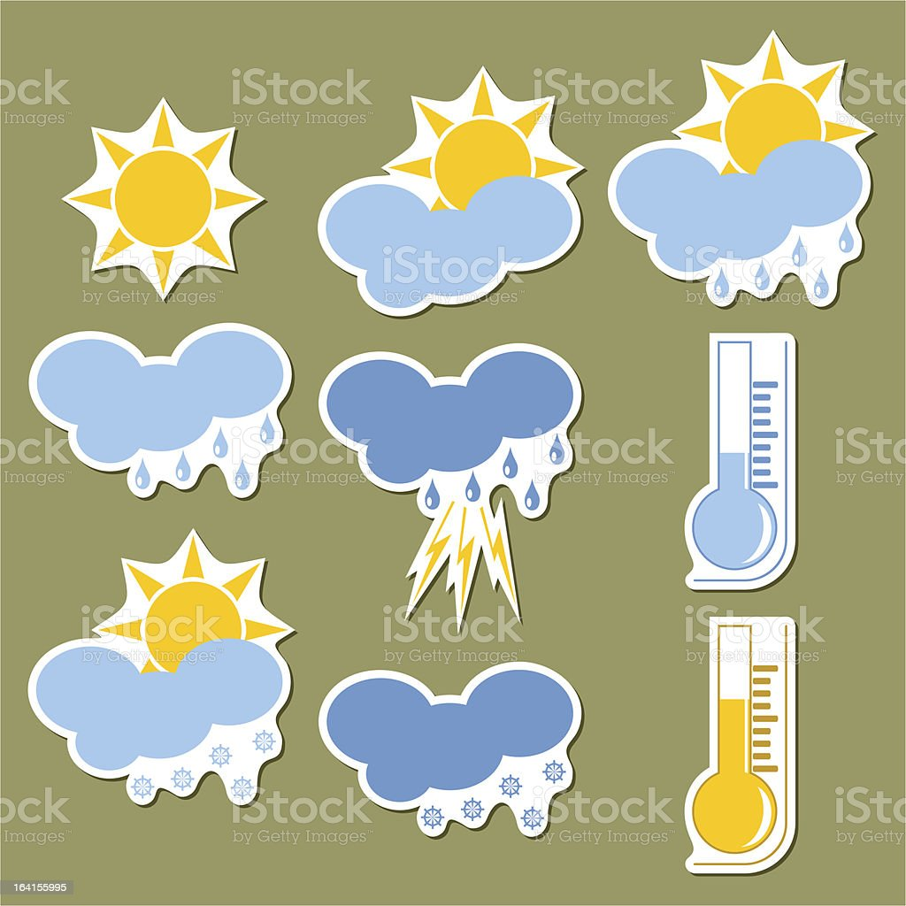 Weather forecast stickers royalty-free weather forecast stickers stock vector art & more images of badge