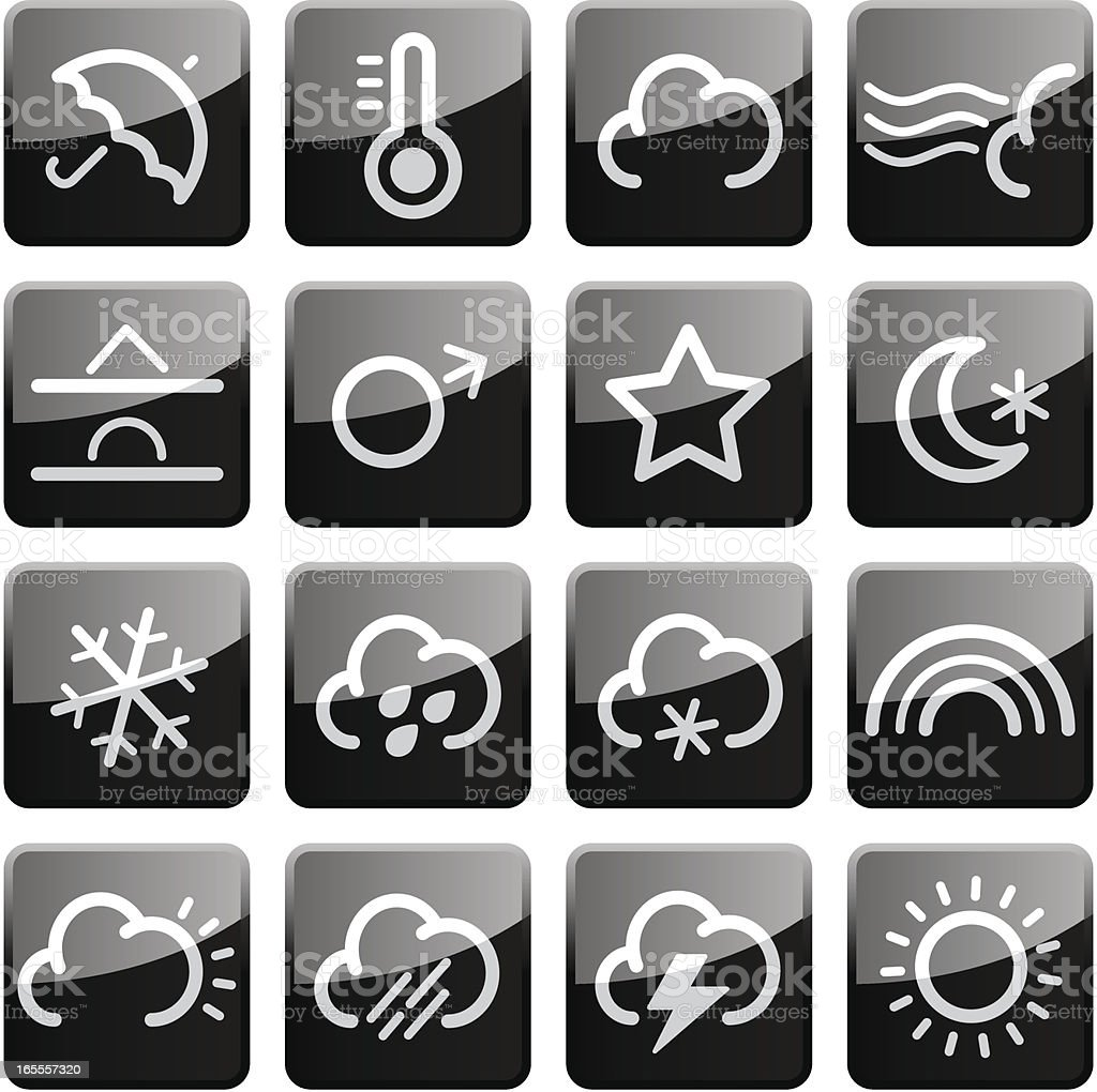 Weather   Glossy Collection royalty-free stock vector art