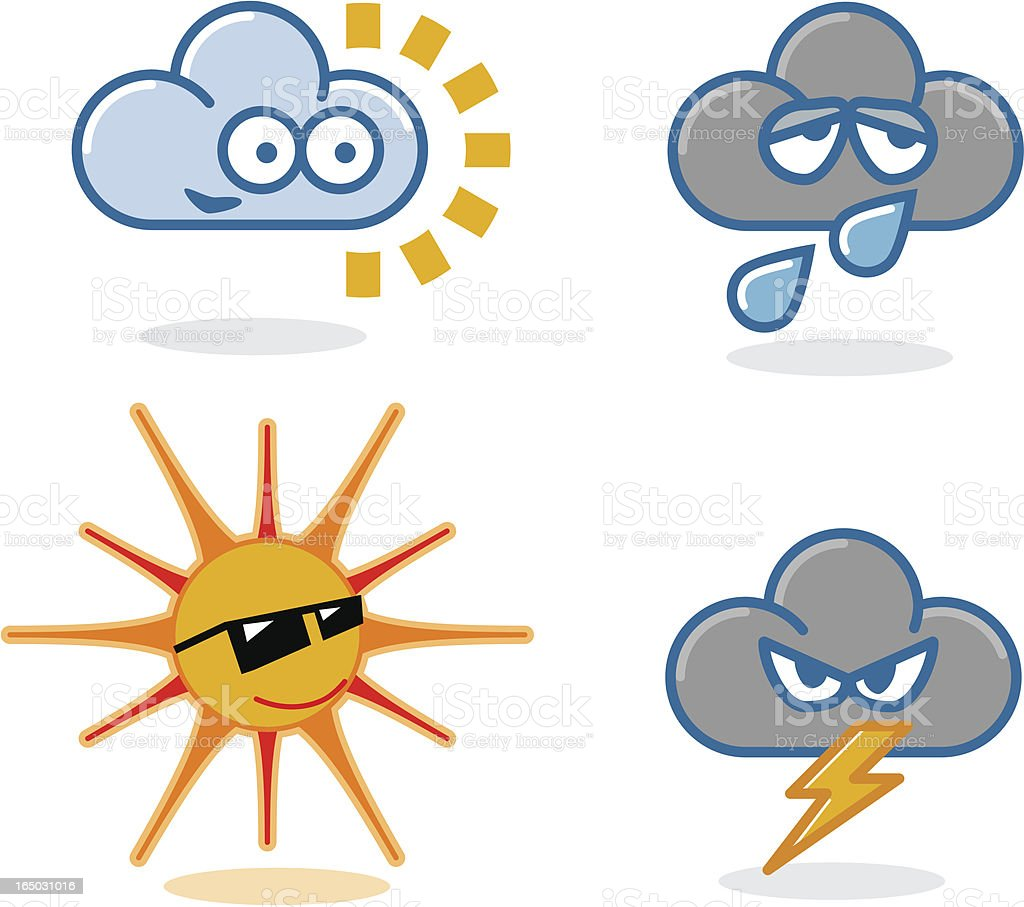 Weather Heads royalty-free stock vector art