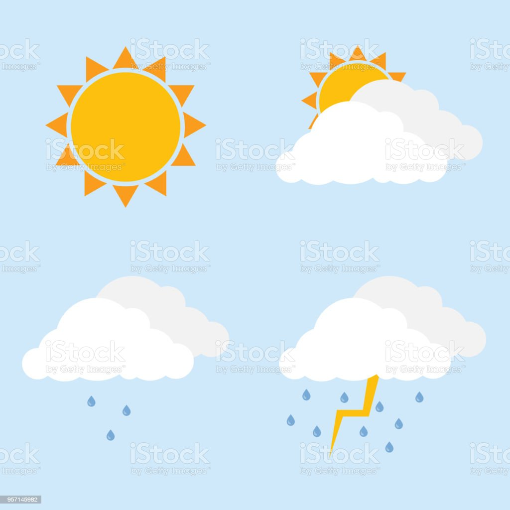 royalty free partly cloudy sky silhouette clip art vector images rh istockphoto com partly cloudy clipart black and white Rain Clip Art