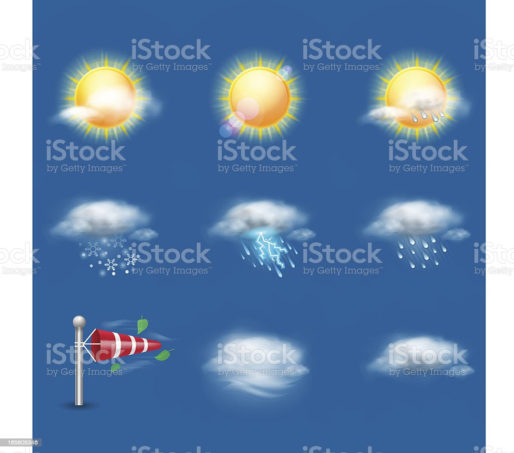 Weather Icon Set   Day royalty-free stock vector art