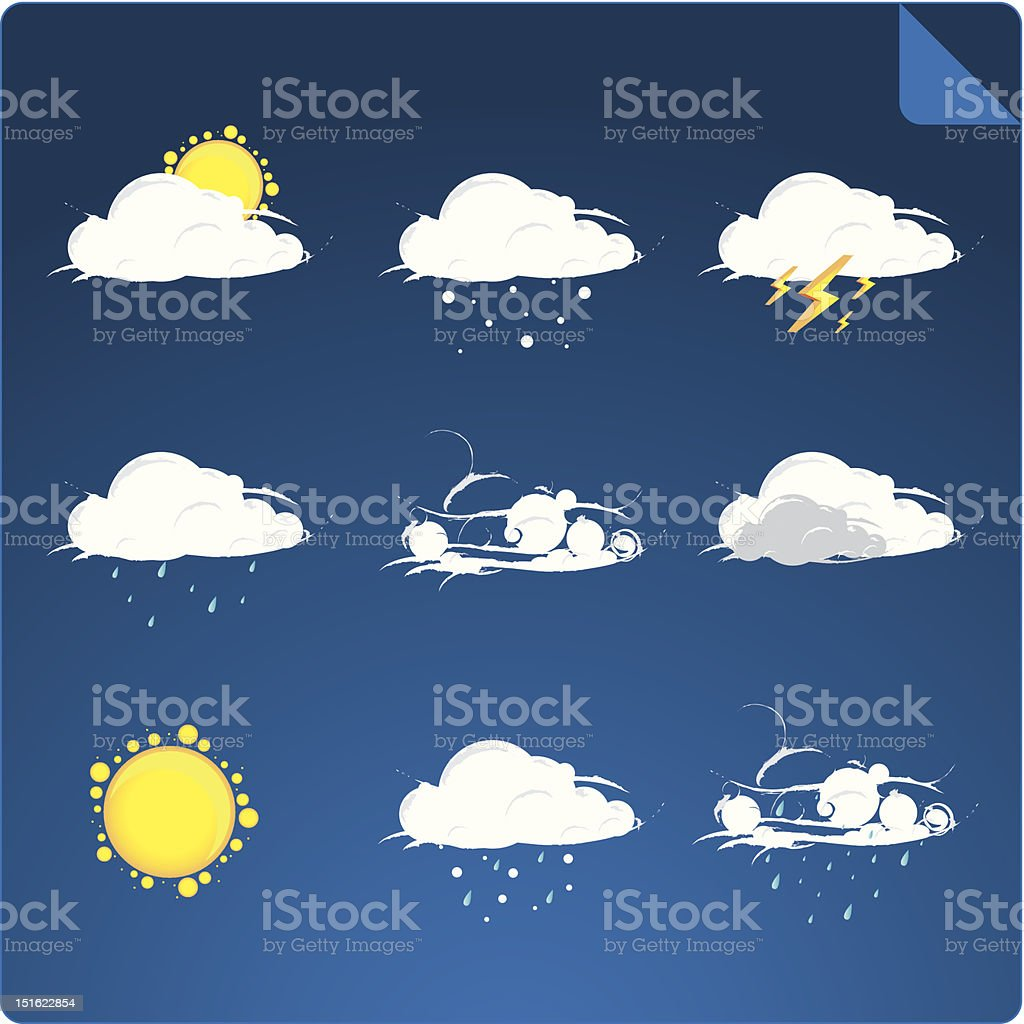 weather icon set royalty-free weather icon set stock vector art & more images of autumn