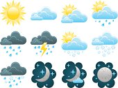 Weather icons in vector format.