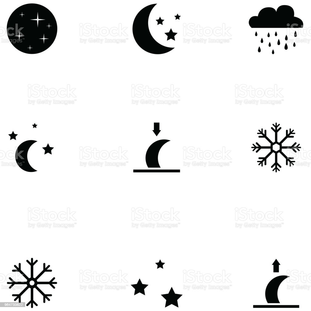 weather icon set royalty-free weather icon set stock vector art & more images of cloud - sky