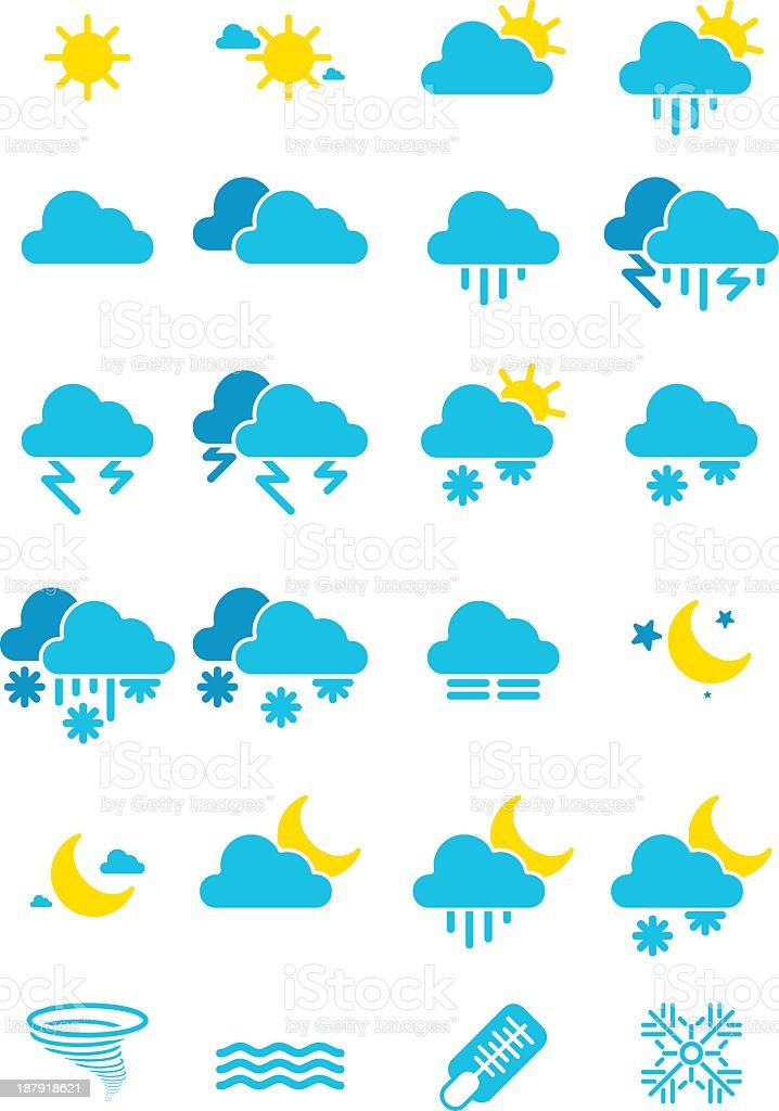 Weather icon royalty-free weather icon stock vector art & more images of clear sky