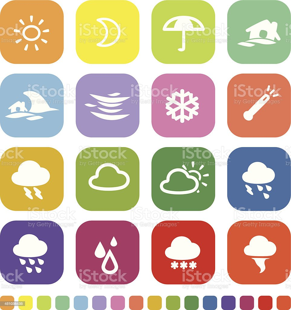 Weather Icon royalty-free weather icon stock vector art & more images of arranging