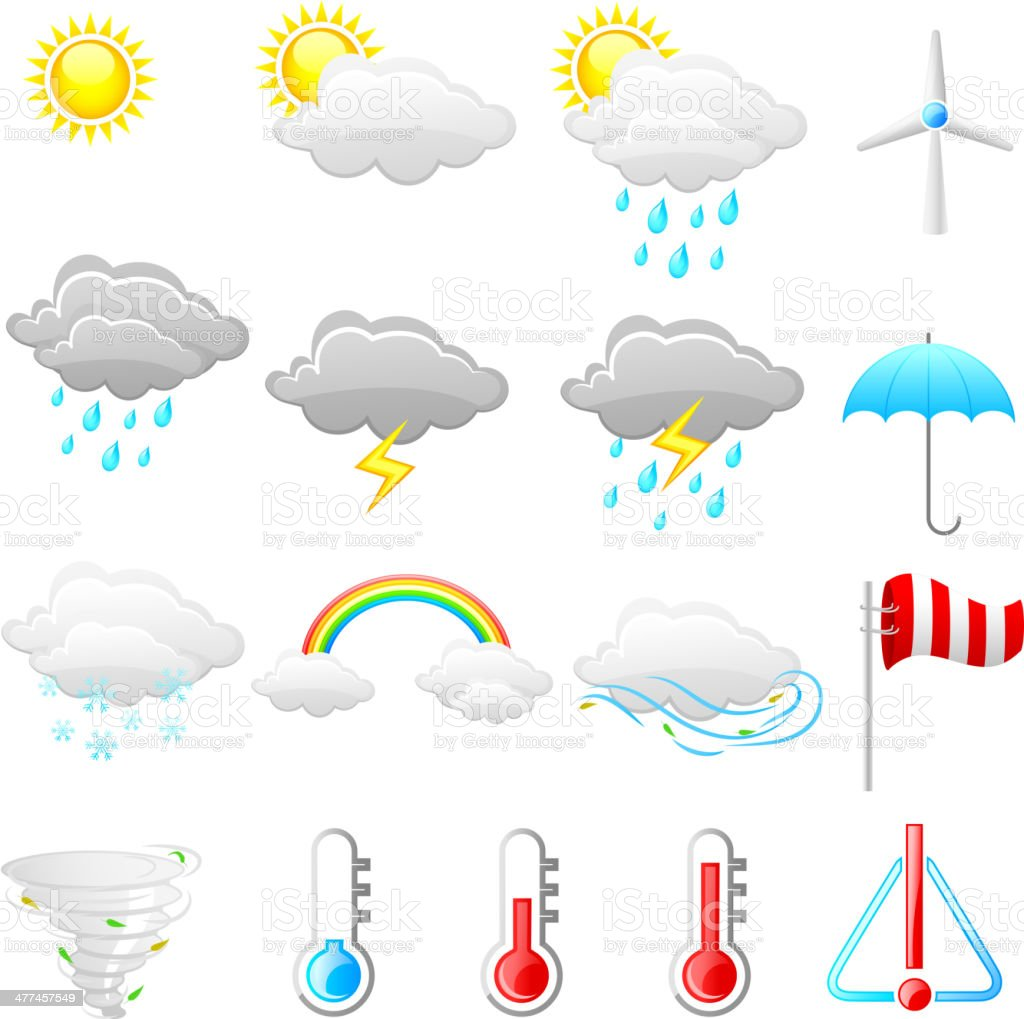 Weather Icon royalty-free weather icon stock vector art & more images of autumn