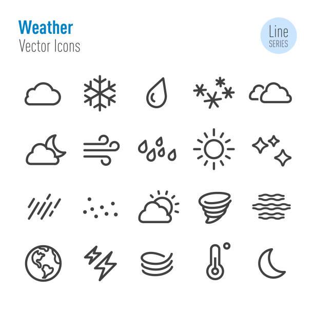 天氣圖標-向量線系列 - 寒冷的 幅插畫檔、美工圖案、卡通及圖標