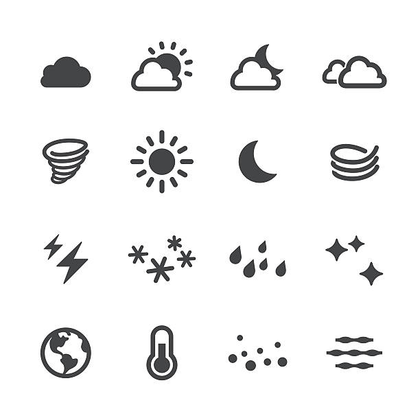 weather icons - acme series - moon stock illustrations, clip art, cartoons, & icons