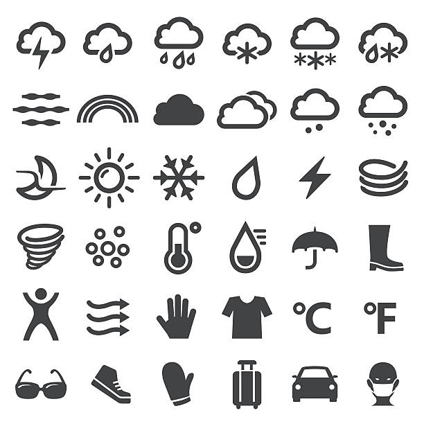 Weather Icons - Big Series View All: hailstorm stock illustrations