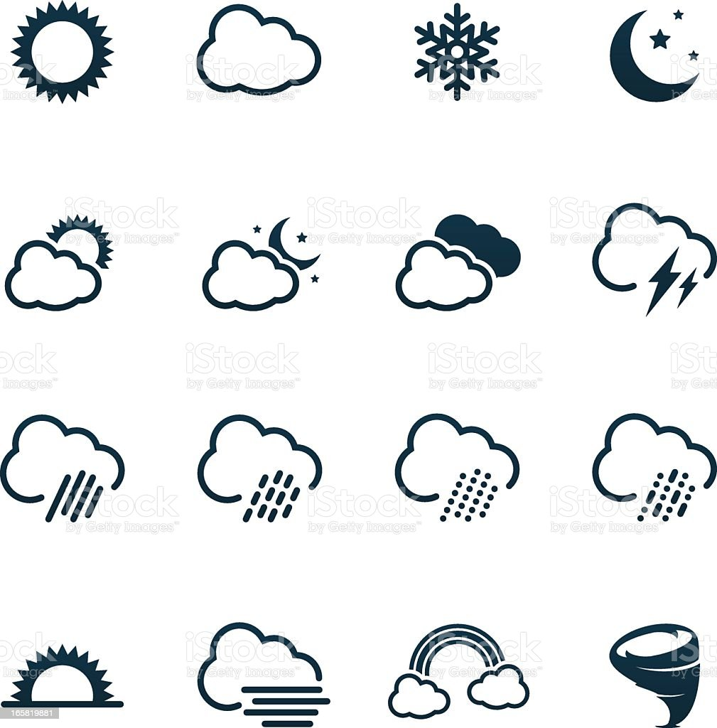 Weather Icons | black series royalty-free stock vector art