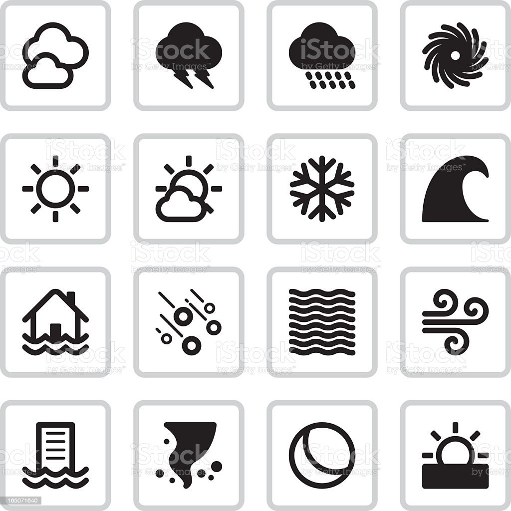 Weather Icons | Black royalty-free stock vector art