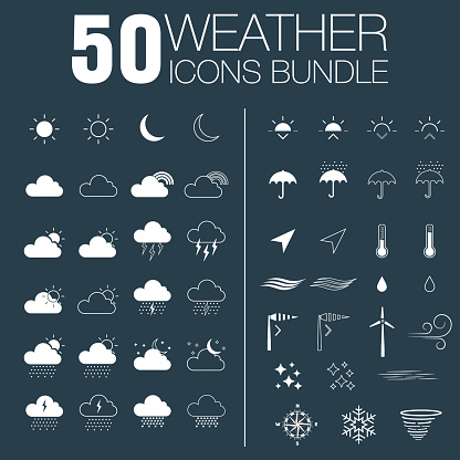 50 weather icons bundle