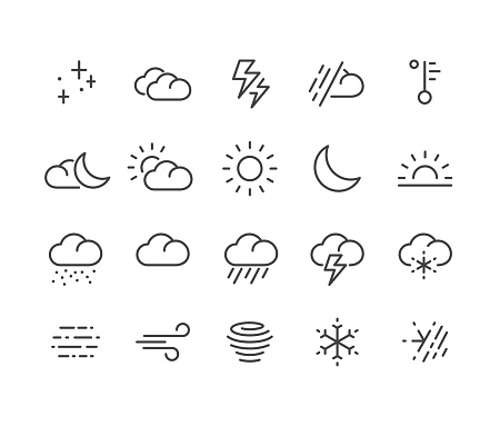Weather Icons - Classic Line Series