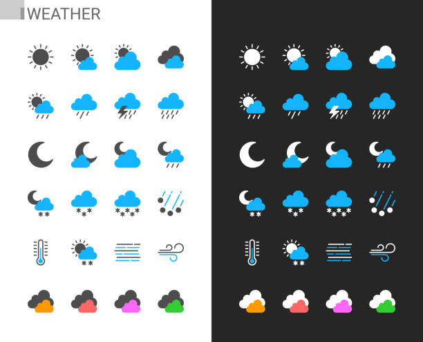 Weather icons light and dark theme. 48x48 Pixel perfect. Weather icons light and dark theme. 48x48 Pixel perfect. hailstorm stock illustrations