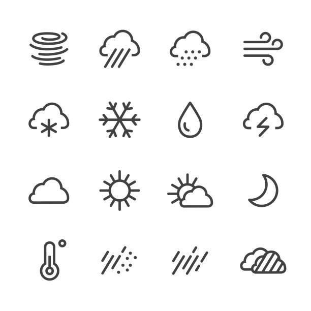 天氣圖標-線系列 - 新月 幅插畫檔、美工圖案、卡通及圖標