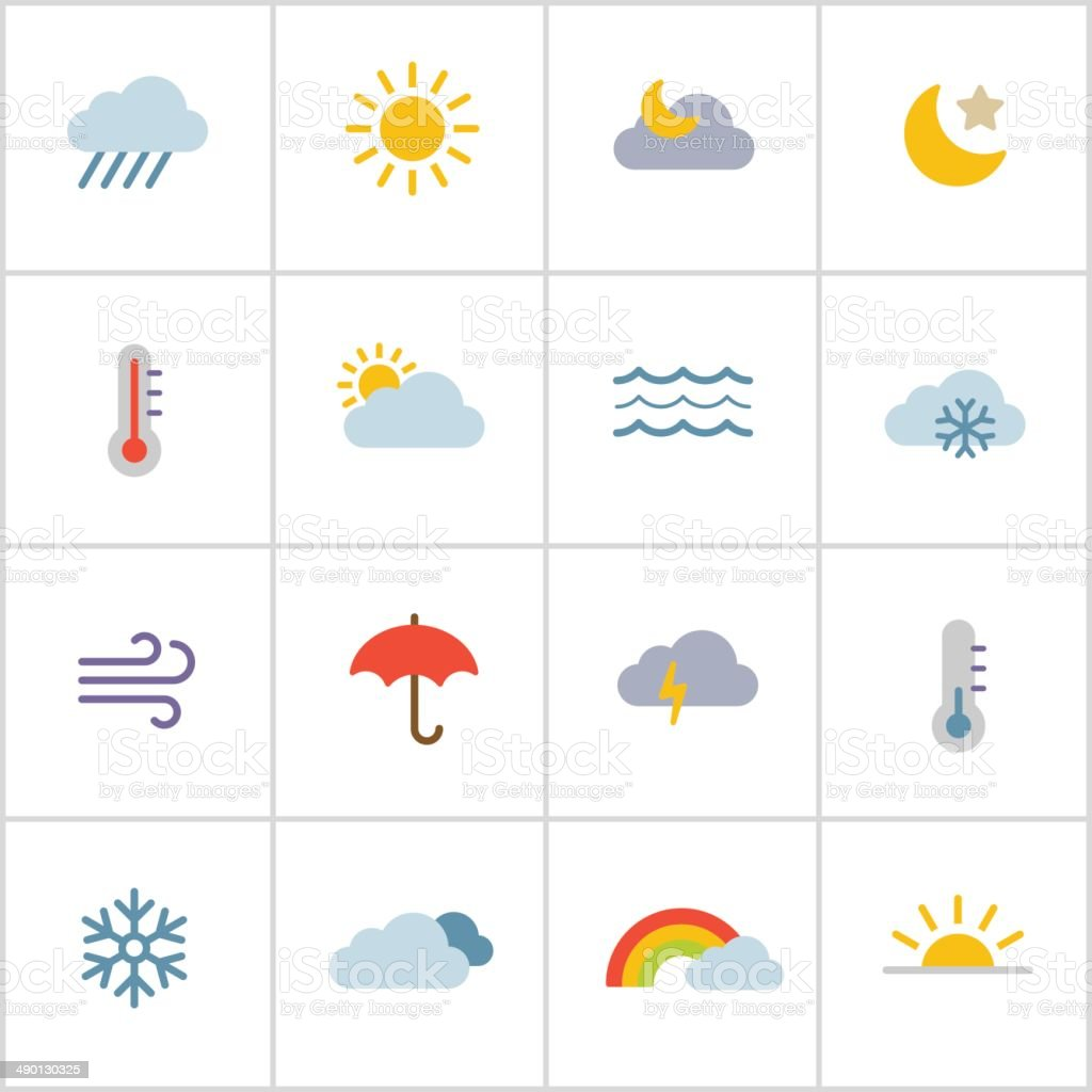 Weather Icons — Poly Series vector art illustration