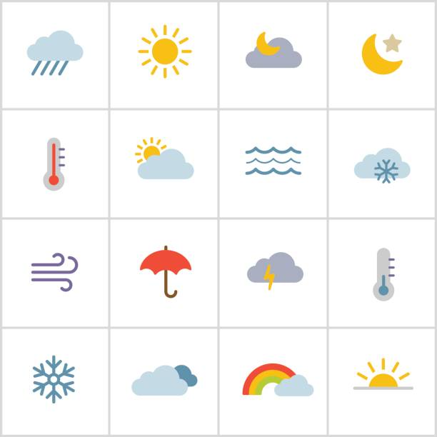 wetter-icons-poly-serie - schneeflocke sonnenaufgang stock-grafiken, -clipart, -cartoons und -symbole