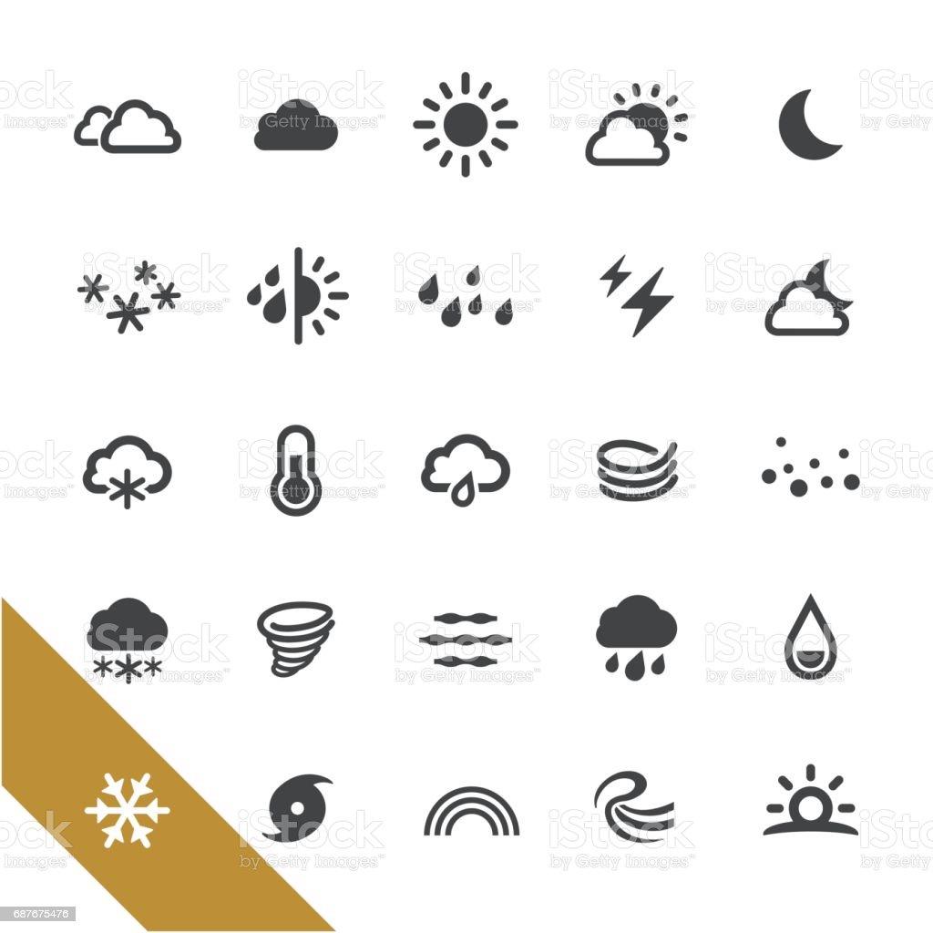 Ícones do tempo - série selecione - ilustração de arte em vetor
