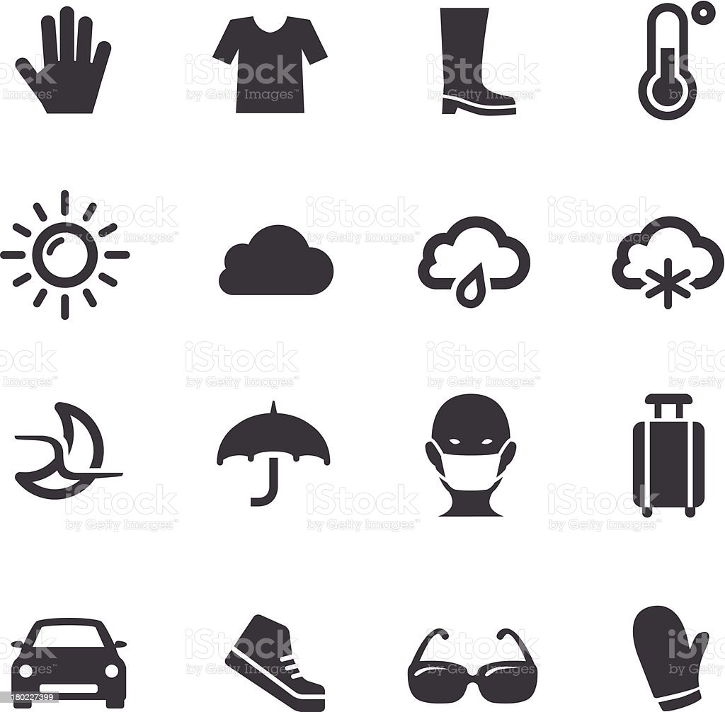 Weather Icons Set 2 - Acme Series royalty-free stock vector art