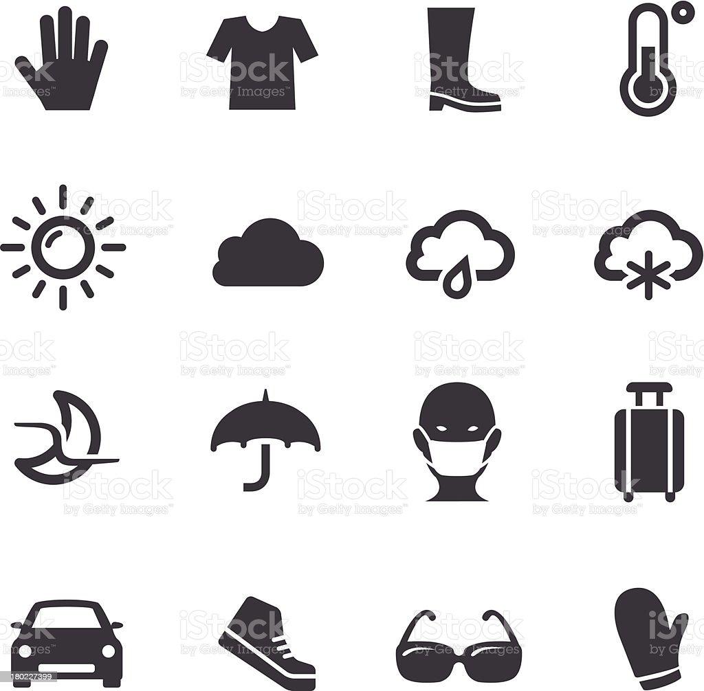 Weather Icons Set 2 - Acme Series vector art illustration